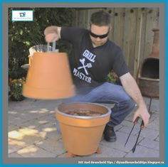 DIY And Household Tips: DIY Flower Pot Grill & Smoker
