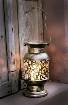 Metal Moroccan-style Hand Candle Lantern