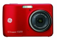 GE C1233 12MP Digital Camera with 3X Optical Zoom and 2.4 Inch LCD with Auto Brightness (Red) by GE. $89.99. Capturing your favorite moments has never been easier – or more within reach with the GE Smart Series C1233 digital camera. With a spacious 2.4-inch high-resolution LCD screen with auto adjust brightness, photo playback is a delightful experience. Featuring a generous 12.4-megapixel resolution, 3x optical zoom and 5.7x digital zoom. The C1233 also provides panorama...