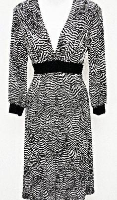 Size 12 - Maggy London- Zebra Print Jersey Dress - $23.99