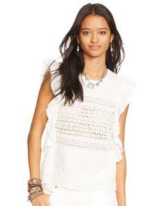 Sleeveless Eyelet Shirt - Denim & Supply  Long-Sleeve - RalphLauren.com