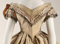 The Met, 1860-64 silk dress