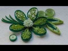 Quilling Made Easy # How to make Yellow Blue Flower Design using Paper A...
