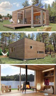 Shipping container houses.                                                                                                                                                                                 More