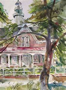 St. Simons Lighthouse watercolor