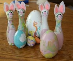 bowling pin bunnies!