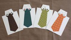 cute tie card craft