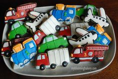 15 Transportation Sugar Cookies Fire Truck di MyBloomingBakery