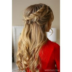 Get Ready with Me Holiday Braids ❤ liked on Polyvore featuring hair