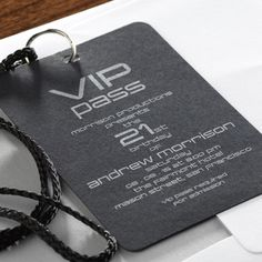 Invite—VIP Pass for 21st Birthday Party