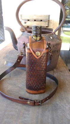 Handmade leather Drink bottle holder by JumbuckWrangler on Etsy