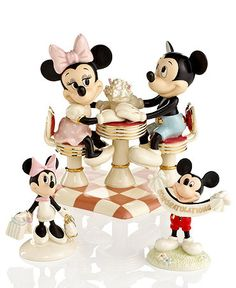 lenox disney figurines   Lenox Collectible Disney Figurines, Mickey Mouse and Minnie Collection ...