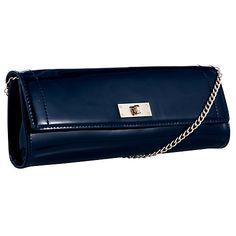 Buy COLLECTION by John Lewis Patent Clutch Bag, Navy Online at johnlewis.com