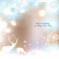 Free vector illustration of Merry Christmas and Happy new year star flake pattern background with reindeer and place for logo and text Holiday Banner, Christmas Banners, Christmas Fun, Beautiful Christmas, Merry Christmas Greetings, Merry Christmas And Happy New Year, Christmas Greeting Cards, Christmas Gift Background, Valentines Day Background