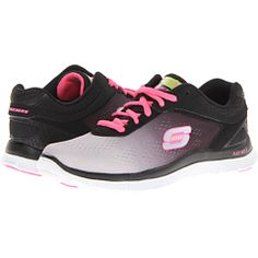 SKECHERS Flex Appeal - Style Icon Black lace for a more clean look. Love them!