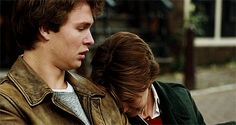 augustus waters and hazel grace. otherwise known as SADDEST GIF. EVER.