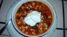 Weight Watchers Low Fat Taco Soup! That's whats for dinner tonight!!!! Yumm Yumm Numm Numm :)