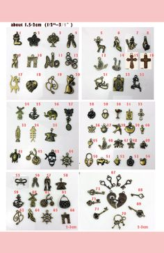 Hardware accessories for bag ,key, necklace ,bracelet , pen ,broach , cute charm animal , flowers ,cross hardware jewelry accessories Here is gift for handmade lover who order from my Etsy shop , you can choose any item as you like order amount over $20  ( 5pcs free rose.  free choice for design )