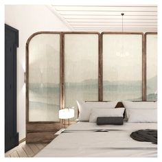 Light weighted fabrics combined with other vibrant in color, provide an overall harmonic proposal. Modern Aesthetics, Neoclassical, Proposal, Divider, Fabrics, Vibrant, Bedroom, Architecture, Color