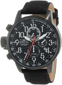"Invicta Men's 1517 I ""Force"" Collection Stainless Steel and Cloth Strap Watch Invicta"