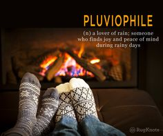 """A few wool rugs on the floor and the coffee's in hand. The last few days here in Western Maryland have been very cold and rainy and some find comfort in those days. Ever heard of a """"Pluviophile""""?"""