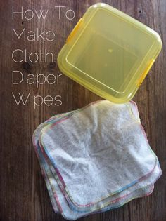 how to make cloth diaper wipes