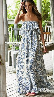 ruffled maxi dress.  perfect for spring
