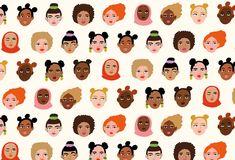 Bodil Jane - Papier on Behance Face Illustration, Graphic Design Illustration, Logo Mano, Face Collage, Portrait Cartoon, Cute Patterns Wallpaper, Watercolor Techniques, Pattern Art, Pattern Design