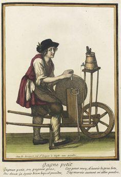 """1678-1693 French Fashion plate """"Recueil des modes de la cour de France, 'Gagne Petit'"""" at the Los Angeles County Museum of Art, Los Angeles"""
