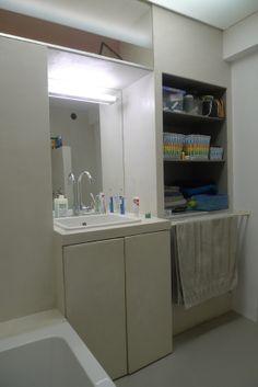 badkamer van beton cire. bathroom made of white beton-ciré