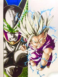 """Cell Games: Final Round"" Pinned from: Dbz, Dragon Ball Z, Gohan Vs Cell, Manga Dragon, Image Fun, Anime Tattoos, Fan Art, Anime Comics, Jokers"