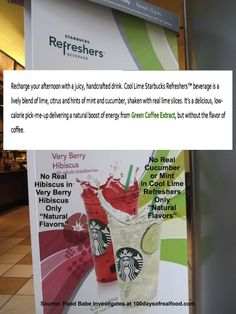 Food Babe Investigates: Sabotaged at Starbucks!  Ugh! Say it ain't so! All kinds of scary crap in Starbucks food and beverages - yes, even coffee.