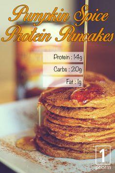 Click for our delicious pumpkin spice pancake recipe featuring Level-1! http://1stphorm.com/1st-phorm-pumpkin-spice-protein-pancakes-recipe/ #1stphormrecipe