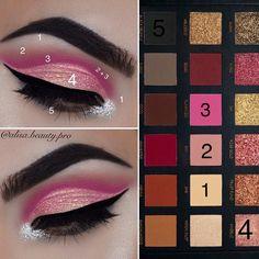 Alisabeauty Huda Beauty Palette make up looks eyeshadow ideas #eyeshadowslooks