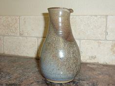 Vintage Studio Pottery Pitcher Rustic by labaublesandbags on Etsy, $14.00