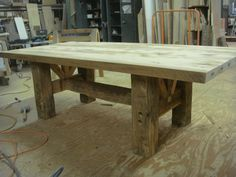 Barn Timber Farmhouse Table – The Design Ward Barn Wood Projects, Furniture Projects, Rustic Table, Farmhouse Table, Barnwood Dining Table, Rustic Furniture, Diy Furniture, Wood Table Design, Table Designs