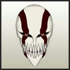 This mask papercraft is the Ichigo Hollow Mask, based on the game Bleach. Ichigo Hollow Mask, Bleach Ichigo Hollow, Anime Bleach, Bleach Fanart, Mascaras Anbu, Tattoo Mascara, Bleach Tattoo, Bleach Couples, Oni Mask