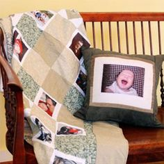 Portrait Quilts - Memory Photo Quilts with up to 96 Photos! Personalized Memory Quilts, Picture Quilts and Photo Blankets make great gifts!