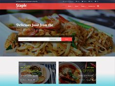 Staple Food is a great and modern Free Bootstrap Restaurant Template for your restaurants or any food business to boost your profits via online and also can be used for various templates like Cafe, Bars, bistros, bakery, pubs, cafeteria, coffee shop, pizzerias, Asian Cuisine, Burgers, Fast Food, Ice-creams, Mexican Food, Organic, wineries, sushi bars, bars, Beer, event promotions, hotels, resorts, tavern, saloon, dinner, culinary specialties shops, wedding restaurant, personal chef websites…