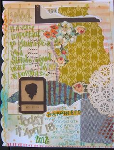 Cindy Mayfield journal page