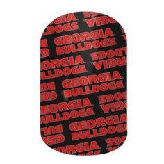 Georgia Bulldogs Fans! These nail wraps are perfect for you!  Click the picture to get them now! No dry time, non-toxic, vegan, allergy friendly and lasts about 2 weeks on your mani!