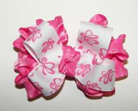 #Ballerina #Ballet Slippers Hot Pink Ruffle Baby Hair #Bow - by accessoriesbyme