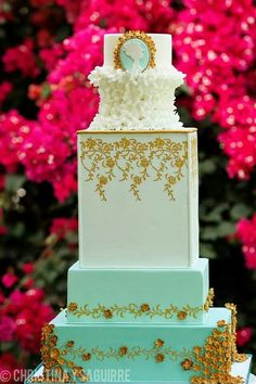 cameo white gold mint cake