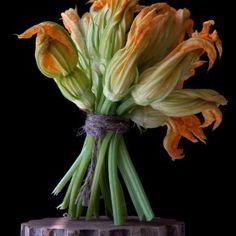 Squash-Blossoms by Lynn Karlin, Raw Art, The Pedestal Series