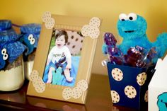 Table Decor.... I will definitely do the cookie jars. My mom and I gave those for Christmas. Why not do it again for the bday party!?? :)