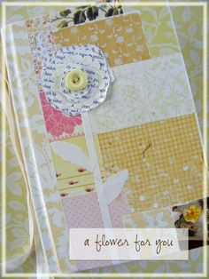 """I've been meaning to share this tutorial forever and am finally getting it done because I accidentally ran across the instructions last week. The tutorial is an altered book project that I did for the """"yellow"""" month at a Year-of-Color...."""