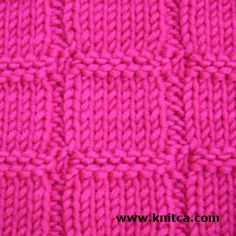 Right side of knitting stitch pattern - Knit & Purl 2