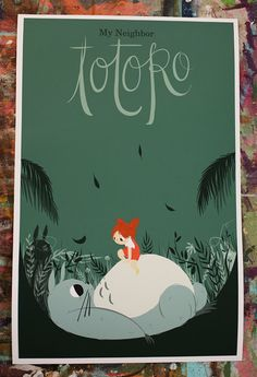 My Neighbor Totoro print by laurengregg on Etsy, $25.00