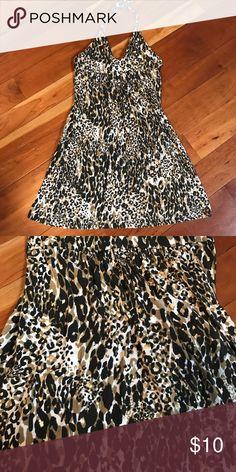 VS sundress size M Victoria's Secret bra top halter sundress, size M. Animal print Victoria's Secret Dresses Mini