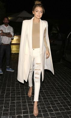 Dinner dress up: The model, who recently broke up with Joe Jonas, 26, was seen at Cecconi's in West Hollywood on Friday